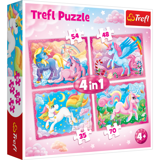 Trefl 4 in 1 Unicorn 207pcs. Puzzle