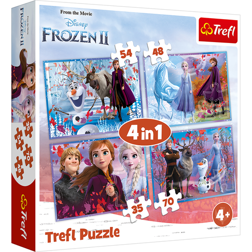 Trefl Disney Frozen 2 4-in-1 Puzzle