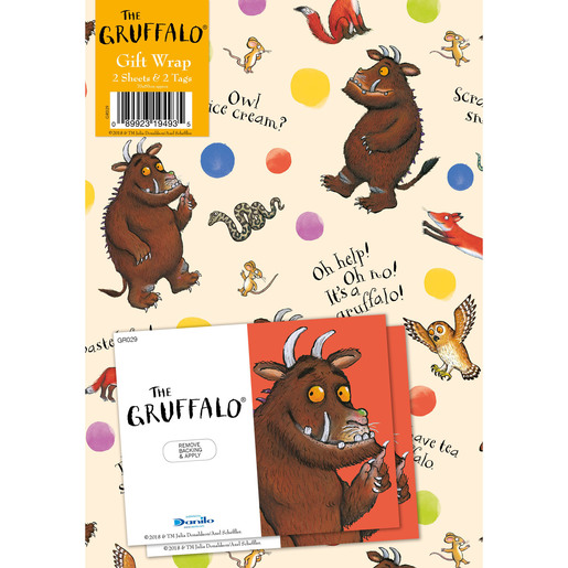 Gruffalo Wrapping Paper - 2 Sheets and 2 Tags