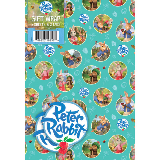Peter Rabbit Wrapping Paper - 2 Sheets and 2 Tags