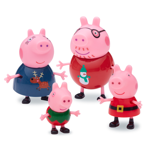Peppa Pig Family Christmas Figures Set of Four