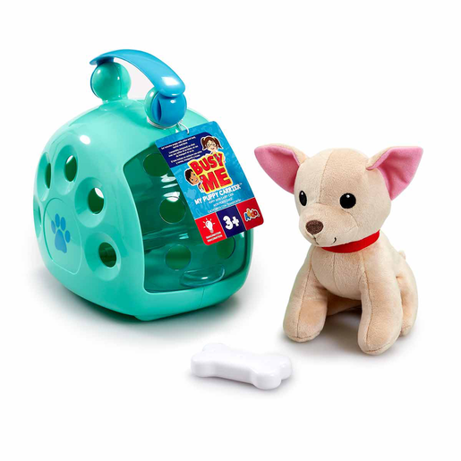 Busy Me My Puppy Carrier Soft Toy - Blue