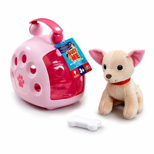 Busy Me My Puppy Carrier Soft Toy - Pink