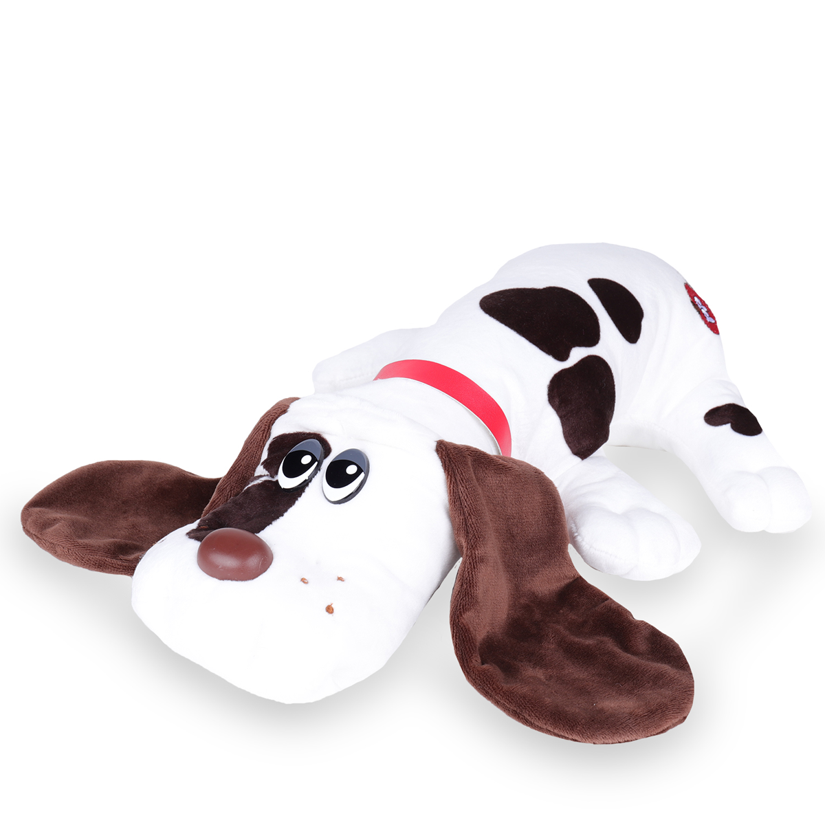 Pound Puppies Classic Plush Toy White With Spots The Entertainer