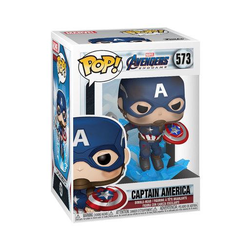 Funko Pop! Marvel: Endgame - Captain America with Shield and Hammer Bobble-Head