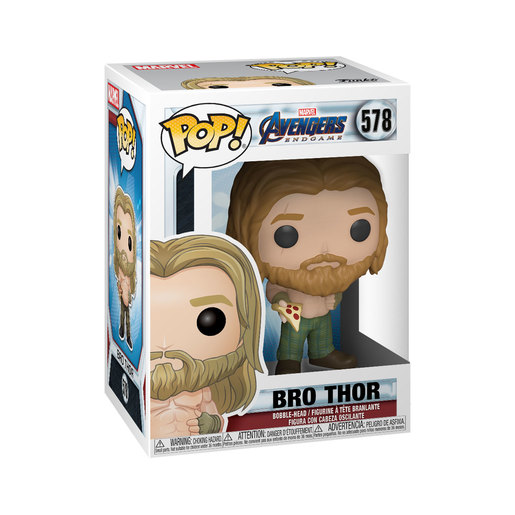Funko Pop! Marvel: Endgame - Thor with Pizza Bobble-Head