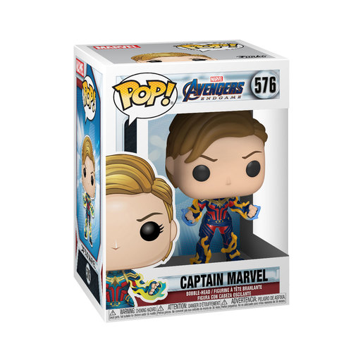 Funko Pop! Marvel: Endgame - Captain Marvel with Short Hair Bobble-Head