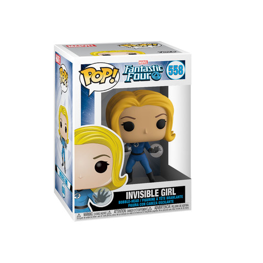 Funko Pop! Marvel: Fantastic Four - Invisible Girl Bobble-Head