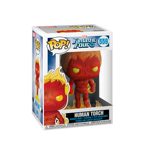 Funko Pop! Marvel: Fantastic Four - Human Torch Bobble-Head