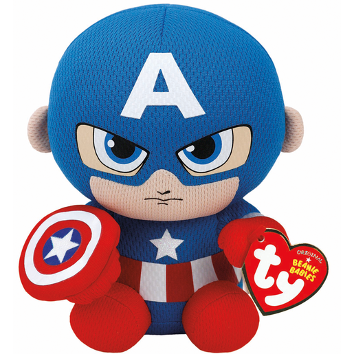 Ty Marvel Beanie Soft Toy - Captain America