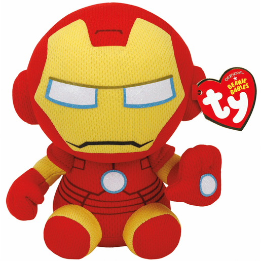 Ty Marvel Beanie Soft Toy - Iron Man