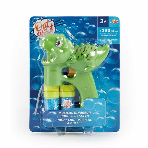 Out & About Musical Dinosaur Bubble Blaster