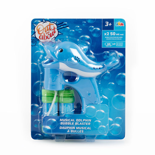 Out & About Musical Dolphin Bubble Blaster