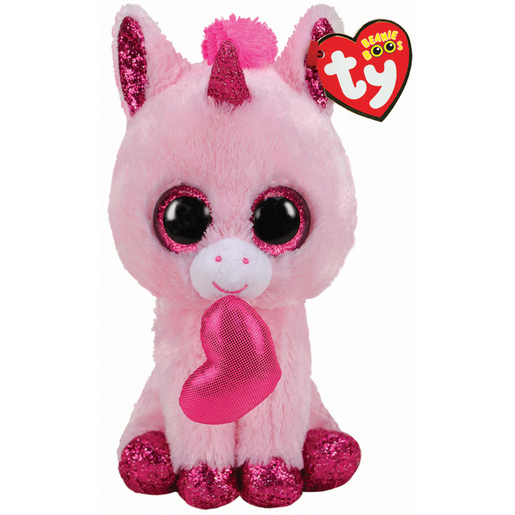 Ty Beanie Boo 15cm Soft Toy - Darling Unicorn Valentines
