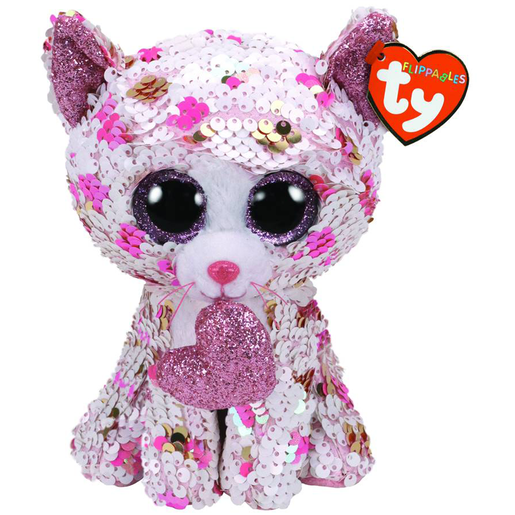 Ty Flippable 15cm Soft Toy - Cupid Cat Valentines