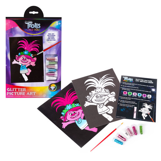 DreamWorks Trolls World Tour Glitter Picture Art Set