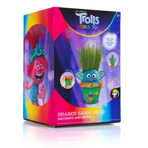 DreamWorks Trolls World Tour Decorate and Grow Branch Grass Head