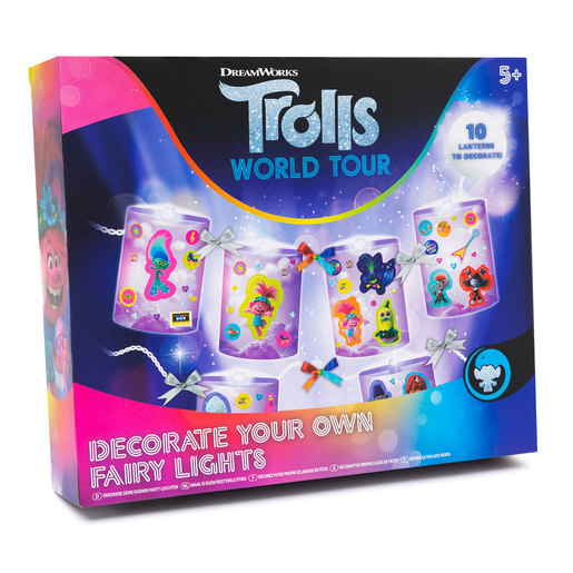 DreamWorks Trolls World Tour Decorate Your Own Fairy Lights