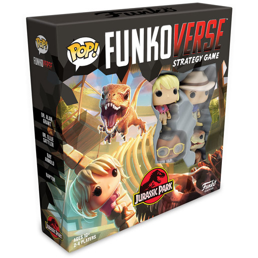 Funkoverse Strategy Game 4 Characters - Jurassic Park