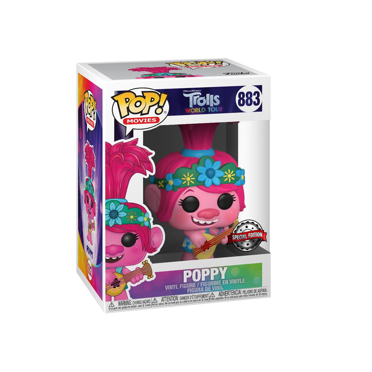 Funko Pop! DreamWorks: Trolls World Tour - Poppy With Guitar (Exclusive)   The Entertainer