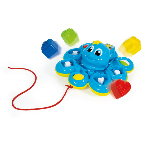 Baby Clementoni Bilingual Pull Along Baby Octopus - English and Spanish