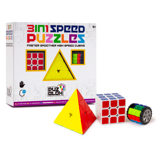 Puz Blox 3-In-1 Speed Puzzles - 3 Pack
