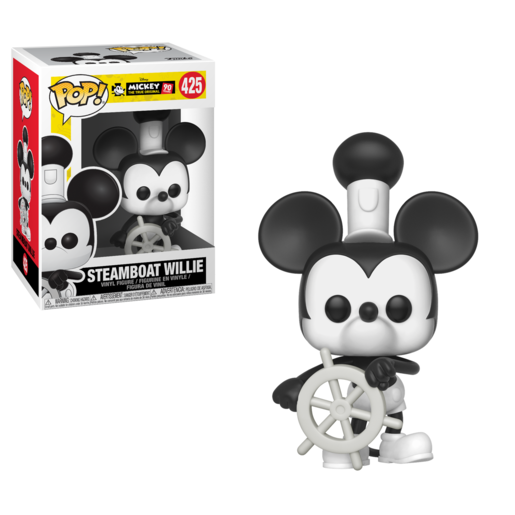 Funko Pop! Disney: Mickey's 90th Anniversary - Steamboat Willie Mickey