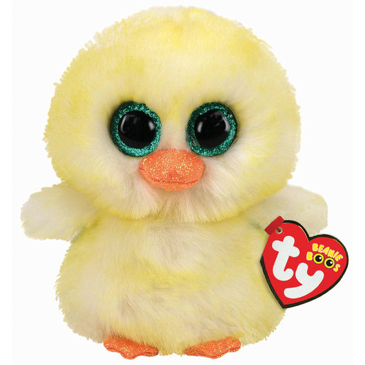 Ty Beanie Boo 15cm Soft Toy - Lemon Drop Easter Chick