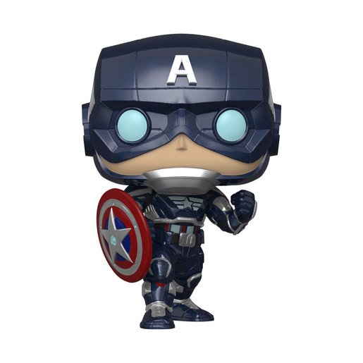 Funko Pop! Games: Marvel Avengers Games - Captain America (Stark Tech Suit)