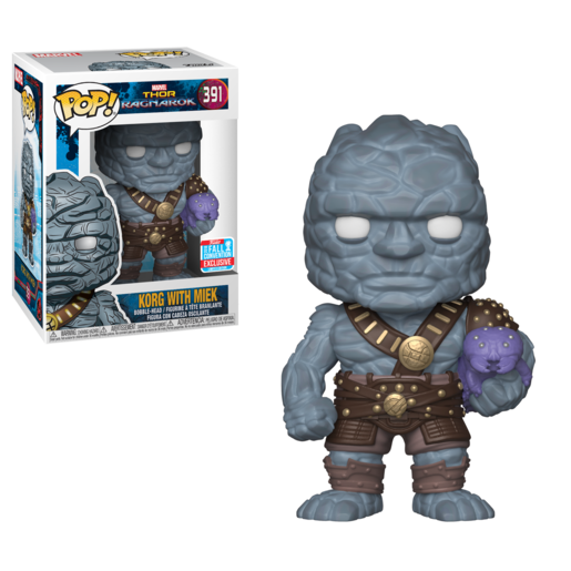 Funko Pop! Marvel: Thor Ragnarok - Korg with Miek Bobble-Head
