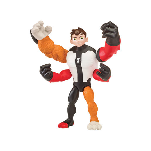 Ben 10 Action Figure Omni-Glitch Heroes - Ben-Four Arms-Rath