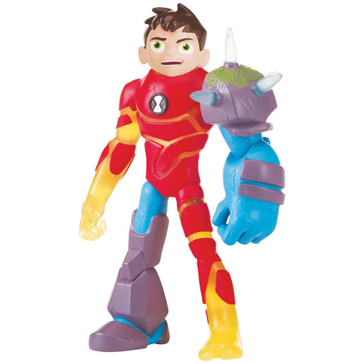 Ben 10 Action Figure Omni-Glitch Heroes - Ben-Heatblast-Shockrock