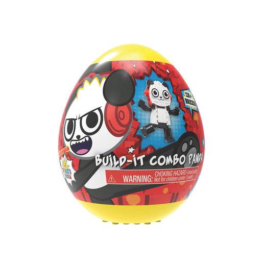 Ryan's World Build A Friend Egg - Combo Panda