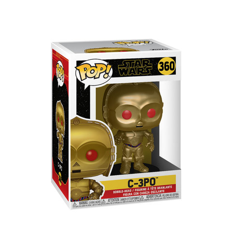 Funko Pop! Star Wars: The Rise of Skywalker - C-3PO Bobble-Head (Red Eyes)