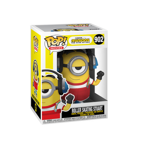 Funko Pop! Movies: Minions The Rise of Gru - Roller Skating Stuart