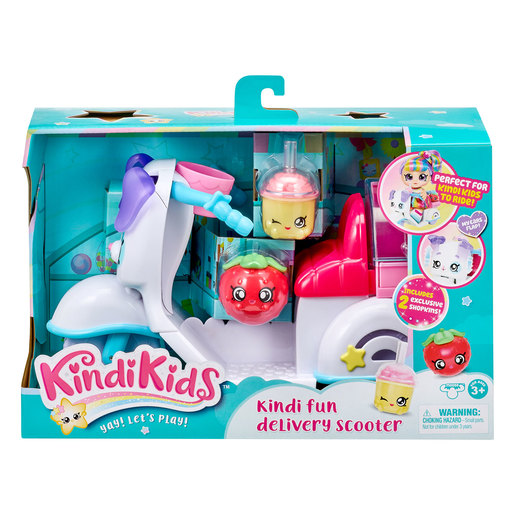 Kindi Kids Puppy Petkin Delivery Scooter and 2 Shopkins