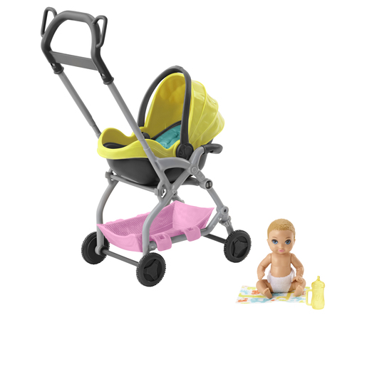 Barbie Skipper Babysitters Doll & Stroller Playset - Yellow
