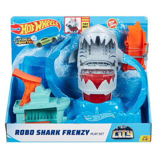 Hot Wheels Robo Shark Frenzy Playset
