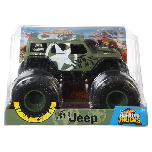 Hot Wheels Monster Trucks - HW Army Jeep