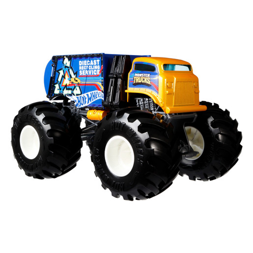 Hot Wheels Monster Trucks 1:24 Vehicle - Will Trash It All (Blue)