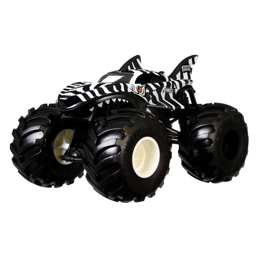 Hot Wheels Monster Truck Vehicle   Zebra Shark