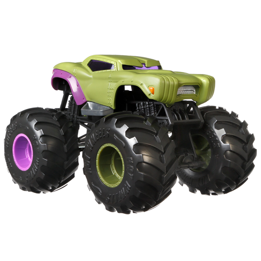 Hot Wheels Monster Trucks 1:24 Vehicle - Marvel Hulk