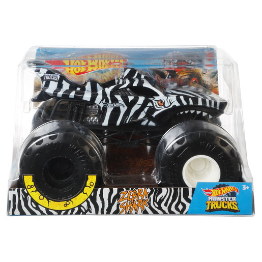 Hot Wheels Monster Trucks Vehicle - Zebra Shark