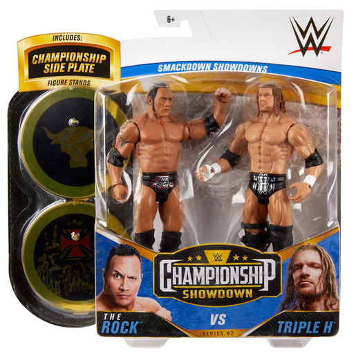 WWE Battle Figures 2 Pack - The Rock Vs Triple H from TheToyShop