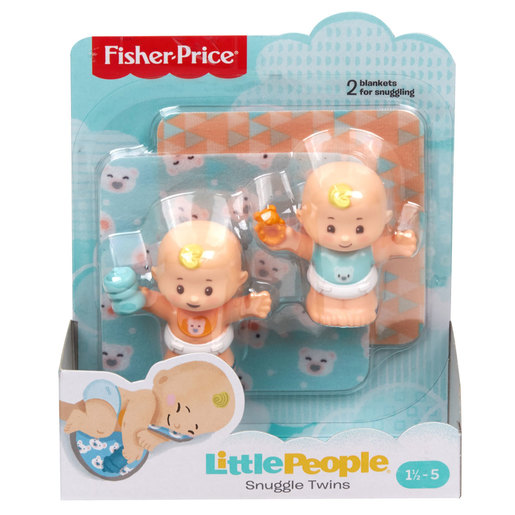 Fisher-Price Little People Snuggle Twin Figures - Bear Twins
