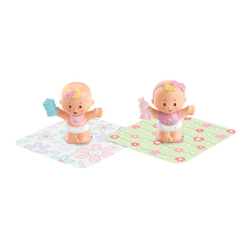 Fisher-Price Little People Snuggle Twin Figures - Spring Flowers
