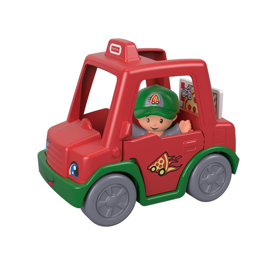 Fisher-Price Little People Vehicle and Figure - Pizza Delivery Man