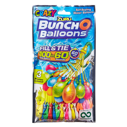 Bunch O Balloons Crazy Rapid Fill - 100 Balloons By ZURU