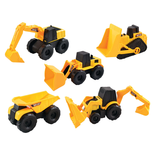 Team Power 16cm Construction Trucks - 5 Pack