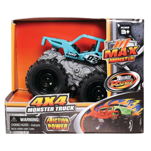 Team Power 9cm Max Monster Truck - Aqua Blue